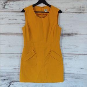 Worthington Mustard Sheath Dress.  (Sw)